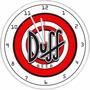 Relógio De Parede Duff Beer Decorativo Bar Cerveja