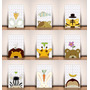 Placas Decorativas Infantis - Mdf - Bichos Selva