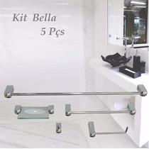 Kits De Banheiro Bella 5 Peças Frete Gratis