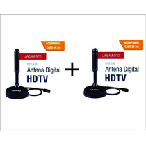 (2 Antenas) Tv Digital Hdtv Dtv 150 Aquario Cabo 5 Metros