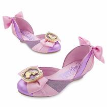 Sapato Rapunzel Com Salto Original Disney Store Tam 22