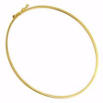 Pulseira Bracelete Redondo Feminino Em Ouro 18k-750
