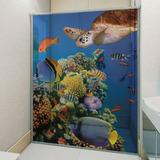 Adesivo Box Banheiro Peixes Sob Medida Por Folha De Box