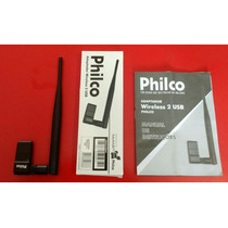 Adaptador Wireless 2 Usb Philco Original C/ Manual E Caixa