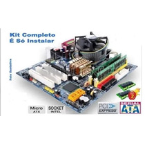 Kit Placa Mãe Gigabyte Core 2 Duo 3.0 Ghz + 4gb - Completo