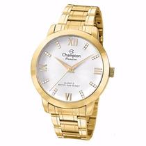 Relógio Champion Dourado Feminino Passion Cn29169h Original