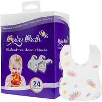 Kit C/ 24 Babador Descartavel Impermeável Coletor Baby Bath