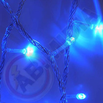 Pisca Pisca Natalino 100 Lampadas Azul Led Natal Luz Enfeite