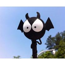 Ponteira Bola Bolinha Enfeite Antena Morcego Decoração Carro