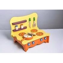 Brinquedo De Madeira Para Casinha De Boneca Fogão De Mesa...
