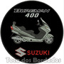 Bordado Moto Suzuki Burgman 400 Patch Gr P/ Jaqueta Car357