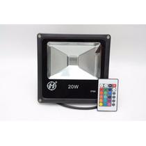Refletor Holofote Led Rgb 20w Ip65 Bivolt - Pronta Entrega