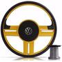 Volante Esportivo Rallye Amarelo Gol G5 Polo Golf Novo Fox
