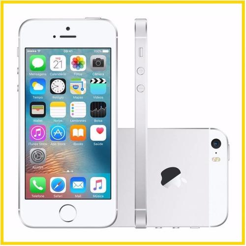 Iphone 5s Apple 16gb Anatel Original Branco C / Prata Lacrado