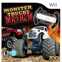 Volante + Jogo Monster Trucks Mayhem (bundle) Nintendo Wii