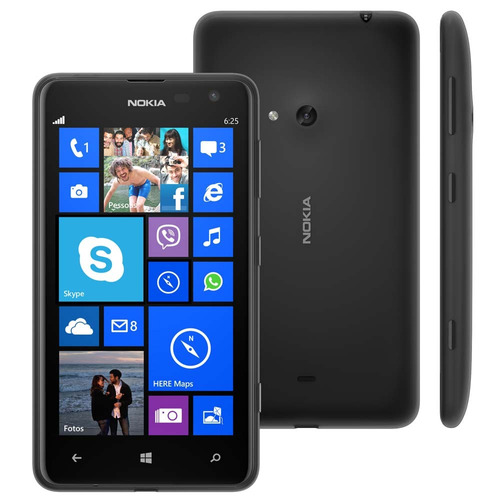 Nokia Lumia 625 4g Windows Phone 1,2ghz 5mp 8g Nf Garantia