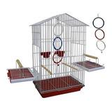 Gaiola P/ Pássaros, Calopsita, Papagaio, Maritaca C/ Argolas