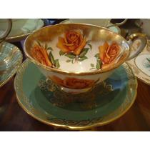 Linda E Antiga Xícara Chá Inglesa Paragon Rosas Amarelas !!