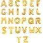Balão Metalizado Dourado Letras - De A Á Z - 40cm - Festas