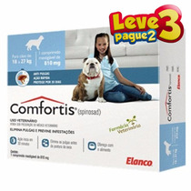 Combo Anti-pulgas Comfortis 18 A 27 Kg - Leve 3 Pague 2