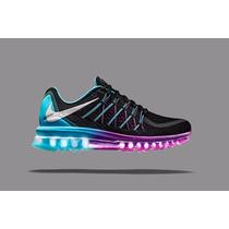 Tenís Nike Air Max 2015 Preto/roxo/lilas Feminino Original