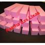 18 Lixas Bloco Unhas Naturais 4x120 Profissional Rosa