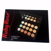 Paleta Base Corretivos 15 Cores Maquiagem Profissional