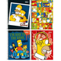 Combo 4 Cadernos Espiral Os Simpsons 1 Matéria 96 Folhas