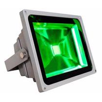 Kit 5x Refletor Holofote Led 10w Verde Prova D´água