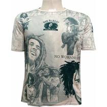 Camisa Indiana Bob Marley Blusa Hippie Reggae Tenda Roots