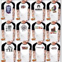 Camiseta Raglan Vários Modelos Masculina E Feminina