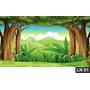 Floresta Encantada Painel 3,00x1,70m Lona Festa Aniversário