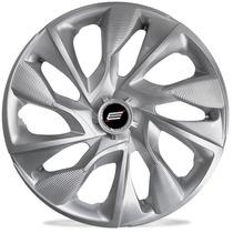 Jogo De Calota 14 Universal Ds4 Silver Fiat Ford Gm Vw Honda