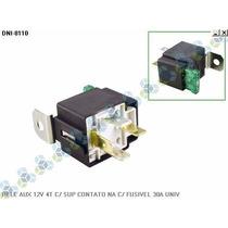 Rele Auxiliar 12v 4t C/ Suporte E Fusivel 30a Universal