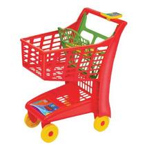 Carrinho Supermercado Infantil Market Vermelho Meg Magic Toy