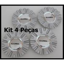 Kit 4 Pçs Calota Tampa Miolo Centro Roda Kr1560 Devine 15|17