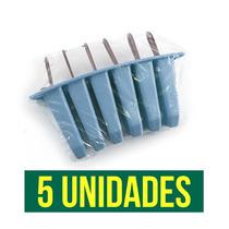 Kit Sorveteira 5 Fôrmas Para Sorvete Picolé 30 Picolés