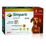 Antipulga Simparic 20 Mg 5 A 10 Kg Combo 3 Comprimidos