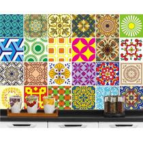 Azulejo Adesivo Decorativo Kit #01 - 24 Peças 20x20 Cm