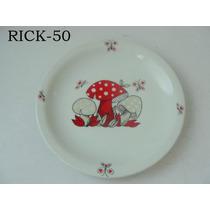 Prato Cogumelos Borboleta Porcelana Schmidt Cchic E.g