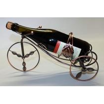 Porta Vinho Em Metal Bicicleta Adega, Decoração, Enfeite