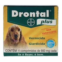 Bayer Vermífugo Drontal Plus 660 Mg C/ 4 Comp (10 Kg)