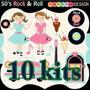 9 Kits Scrapbook Musica Papel Digital Imagens - Frete Grátis