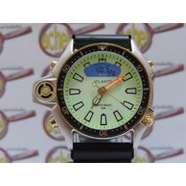 Relogio Atlantis Aqualand Promaster Serie Ouro Fundo Verde