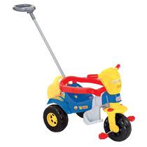 Triciclo Infantil Com Empurrador Meninos Bebê 1 Ano 3514