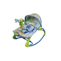 Cadeira Cadeirinha Descanso Musical Bebê Com Balanço Azul