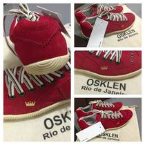 Tênis Osklen Vermelho Camurça/várias Cores E Modelos