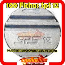 100 Fichas Ficha Sps12 Fliperamas Juckebox Arcade Ficheiros