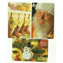 Loucura Série Natal Ctbc 2004 (3 Cartões) Ctbc