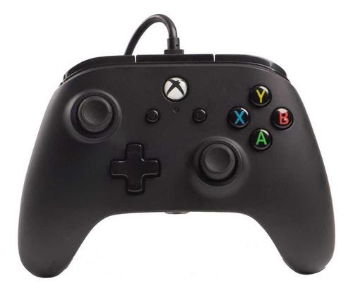 Controle Joystick Powera Enhanced Wired Controller Xbox One Black